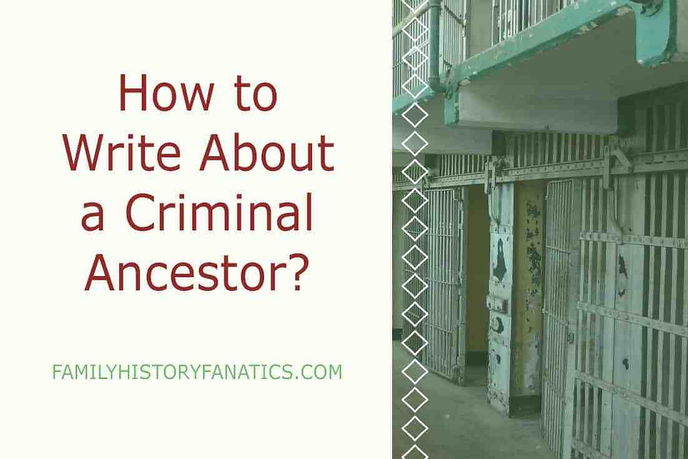 Jail cell with caption how to write about a criminal ancestor