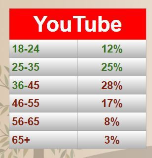 2018 YouTube Audience Demographics
