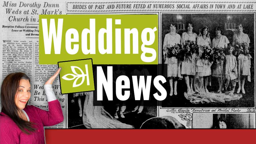 VIDEO: Marriage Index on Ancestry for Newspapers.com Articles