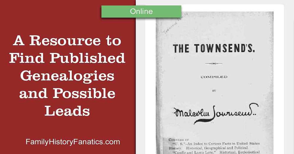 Find Published Genealogies Online