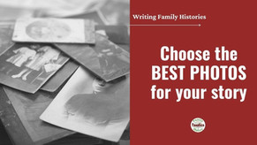 How to Quickly Choose Pictures for a Family History Book
