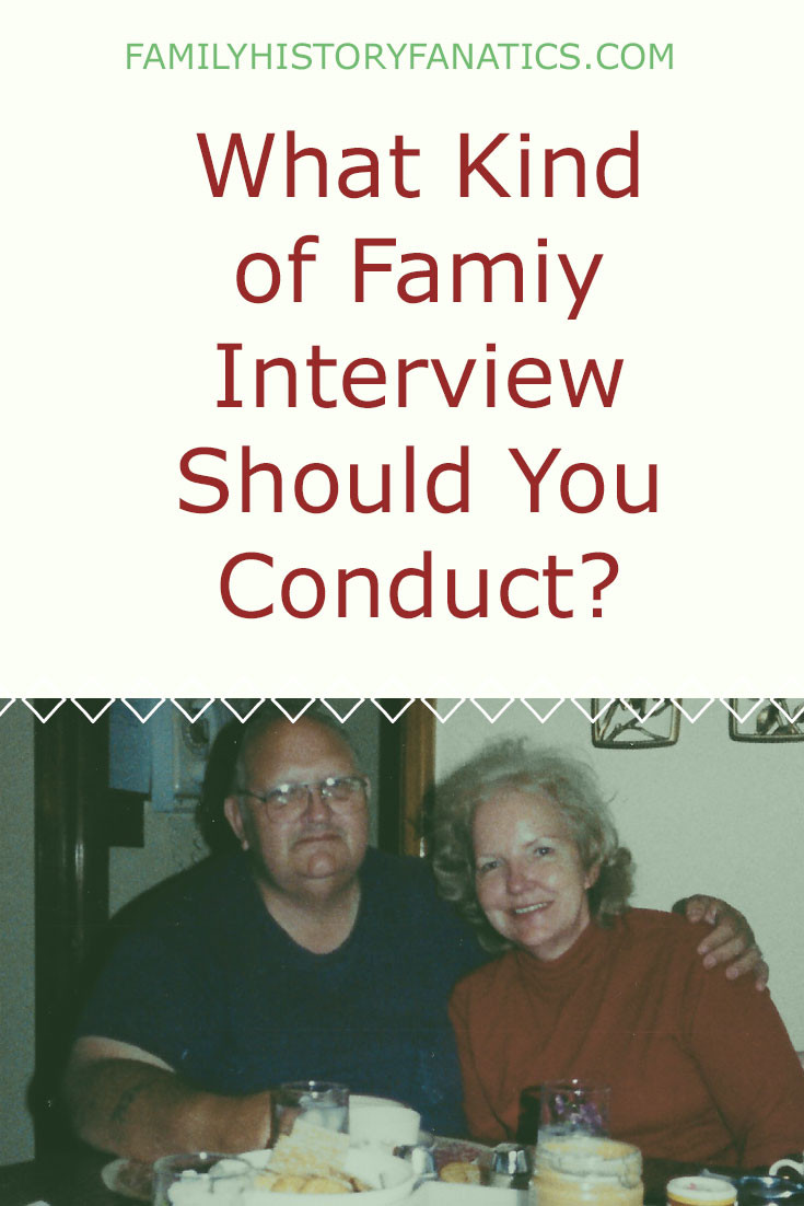 There are a number of interview STYLES that you can use to capture family details and stories. Which one should you use #genealogy #familyhistory