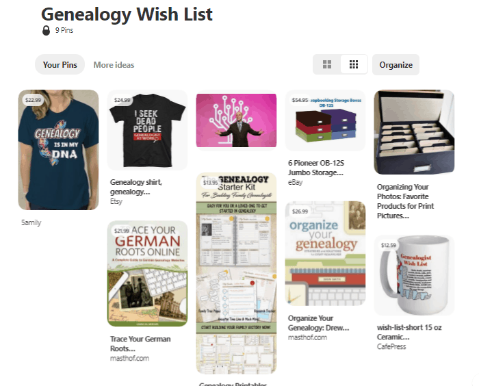 Genealogy Wish List on Pinterest