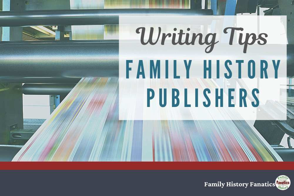 Family History Publishers over a printing press