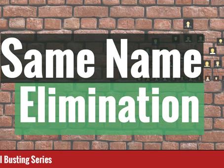 Same Name Genealogy Brick Wall Research Methodology Explained