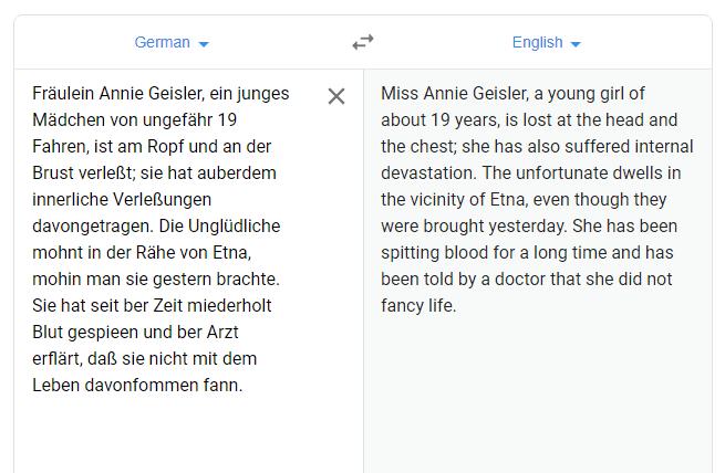 Using Google Translate to change a German Fraktur newsprint article into English. #genealogy #German