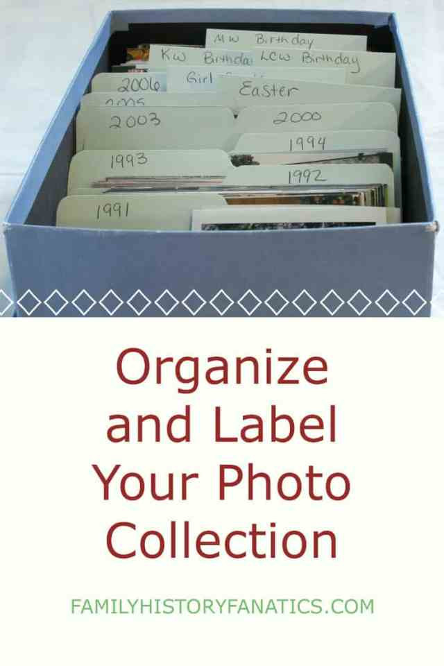 organize photo box with photos with caption organize photos to solve genealogy mysteries