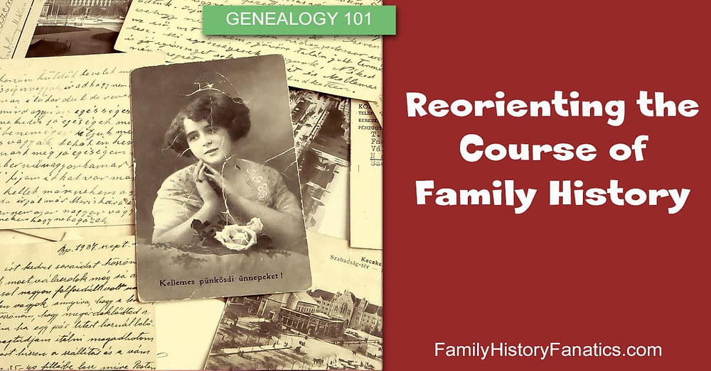 Vintage photos and letters with title reimagine family history