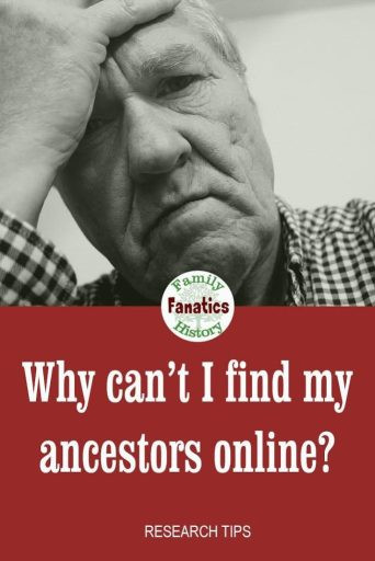 Discover the methods to work around the fact that your ancestors' records are not online. #genealogy #research #ancestors
