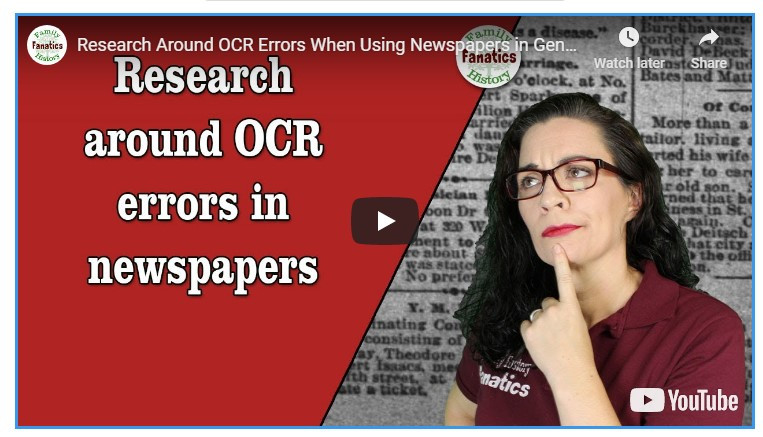 VIDEO: How to research around OCR errors in Newspapers