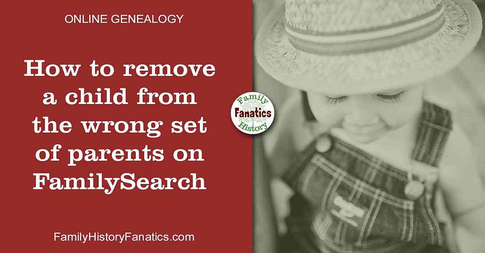 young child to represent removing a child from the wrong parents on FamilySearch Family Tree