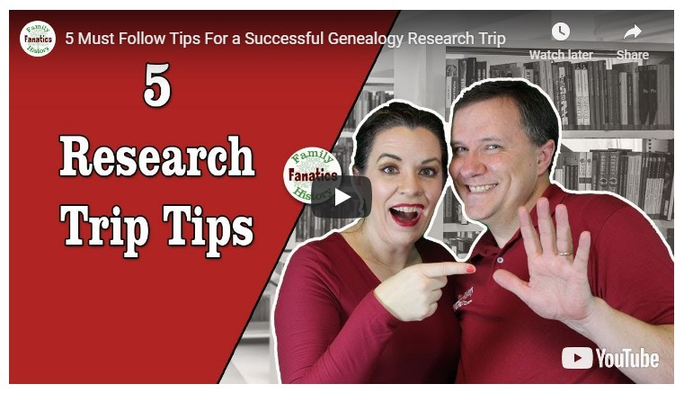 VIDEO: 5 Tips To Prepare for a Genealogy Research Trip