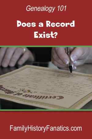 Before you can research, you need to know if a record exists for the question you're trying to answer. #genealogy #methodology #researchtips #genealogy101 #beginninggenealogy #familyhistory