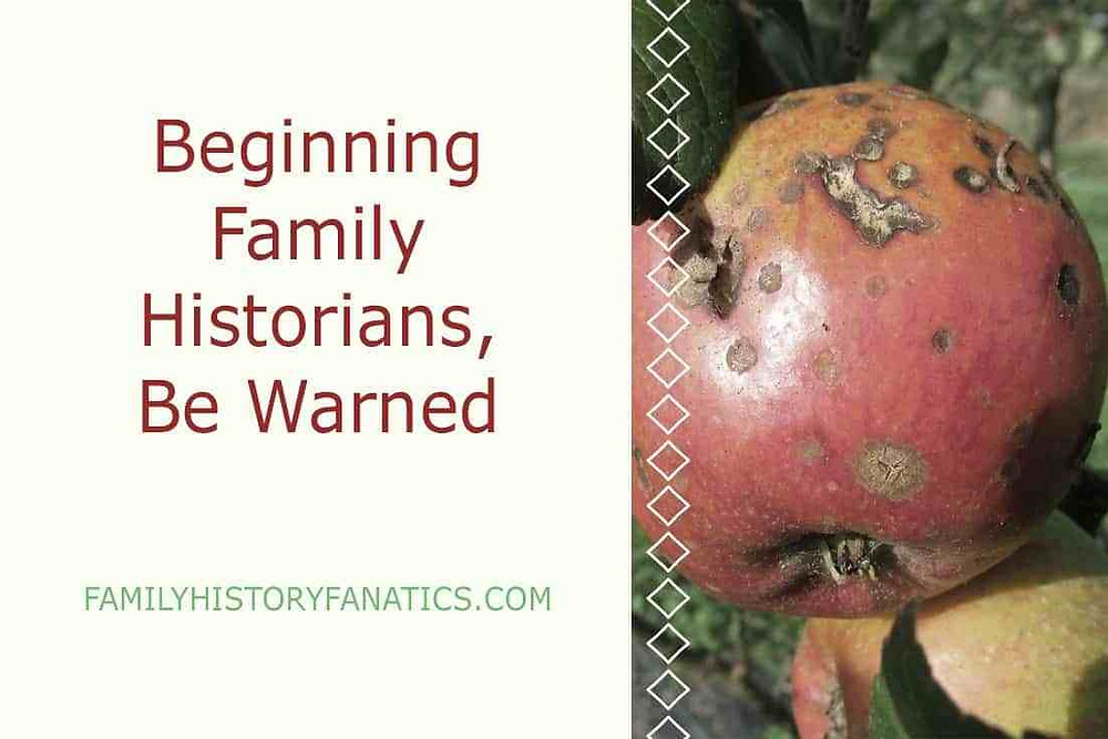 Rotten Apples with warning to beginning family historians