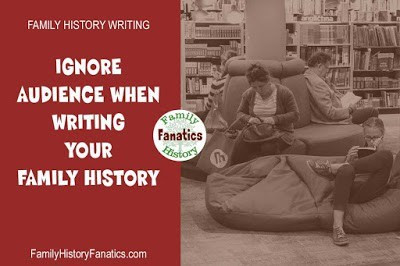 Readers looking at books but writers should ignore them when writing a family history