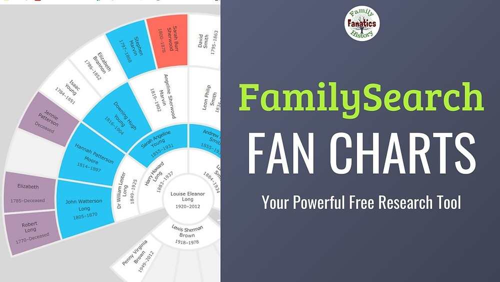 FamilySearch Fan chart problem report with title your powerful free research tool