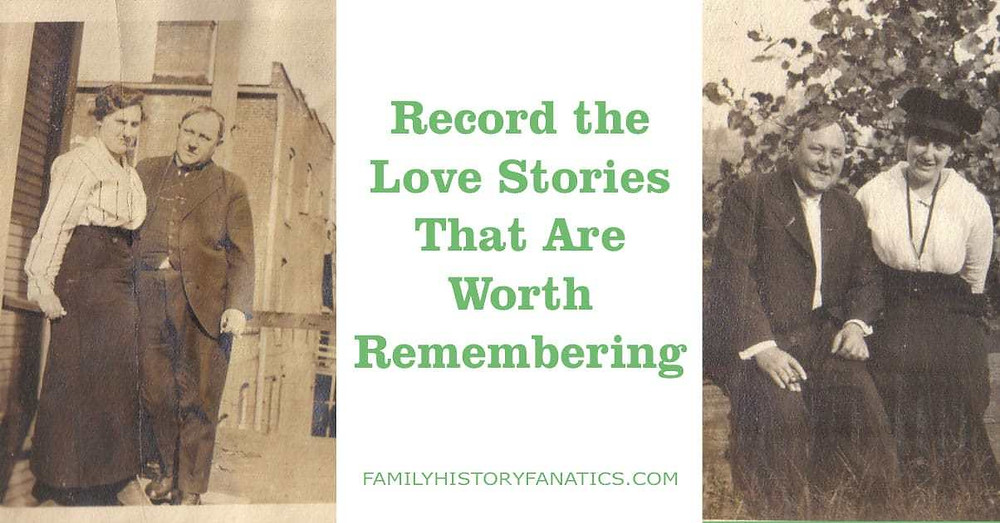 Vintage couple for Record family history love stories