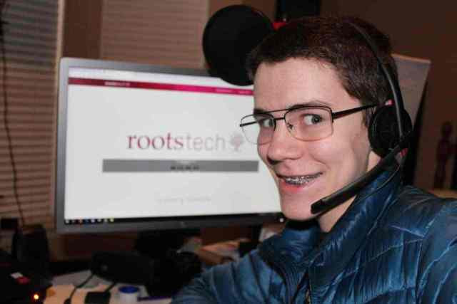 Caleb was #NotatRootsTech