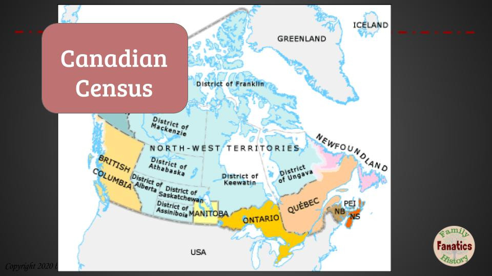 Canadian Census genealogy research webinar