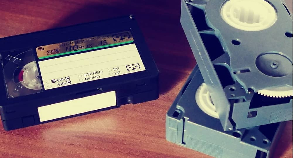 VHS of family history movies and videos