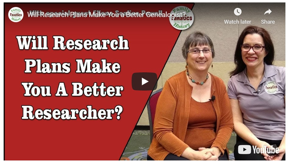 VIDEO: Elisa Scalise Powell Discusses The Important of Genealogy Research Plans