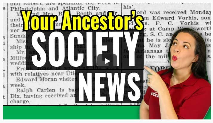 VIDEO: Searching for your Ancestor's Social Life in Newspapers
