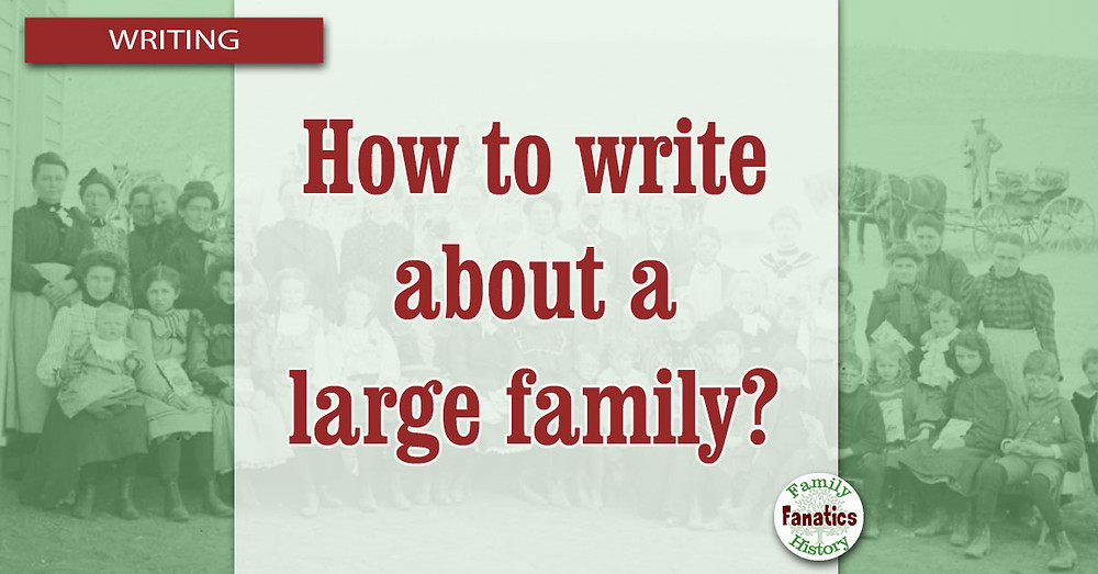 Large Family Photo for How to write a family history when there are many children