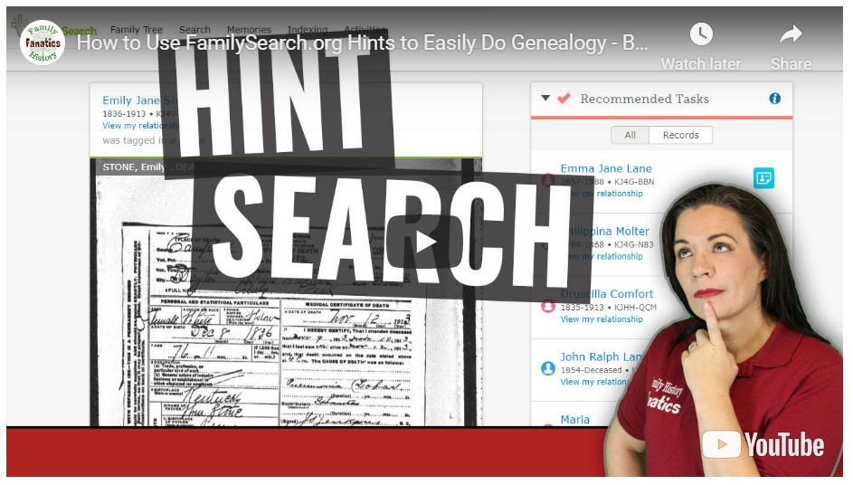 VIDEO: How to research FamilySearch Record hints