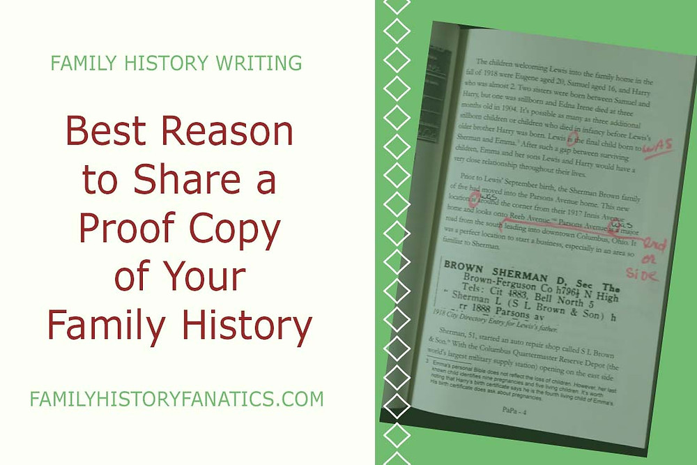The power of sharing a proof copy of your family history