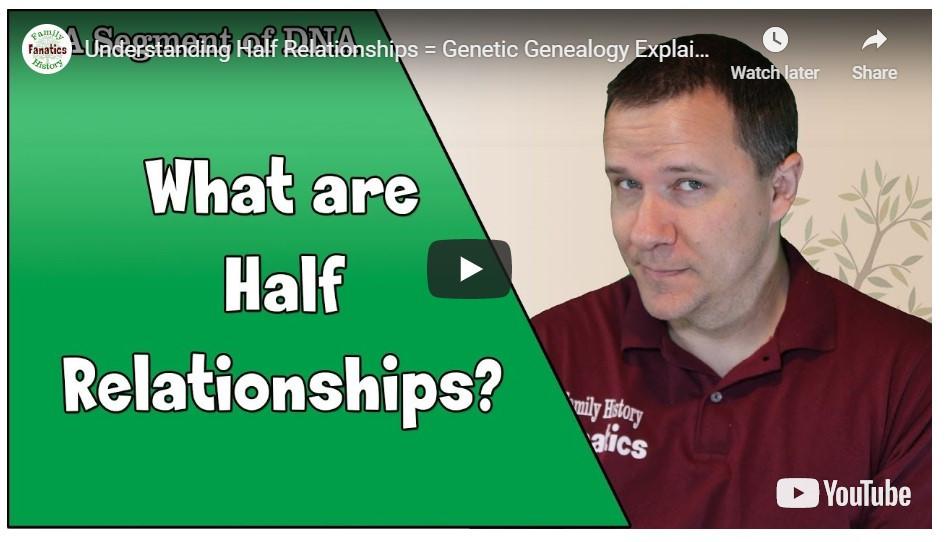 Video: Understanding Half Relatives - Genetic Genealogy