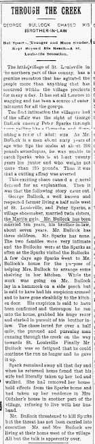 Article about Robert Sparks of St Louisville, Ohio