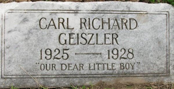 Carl Richard Geiszler Gravestone