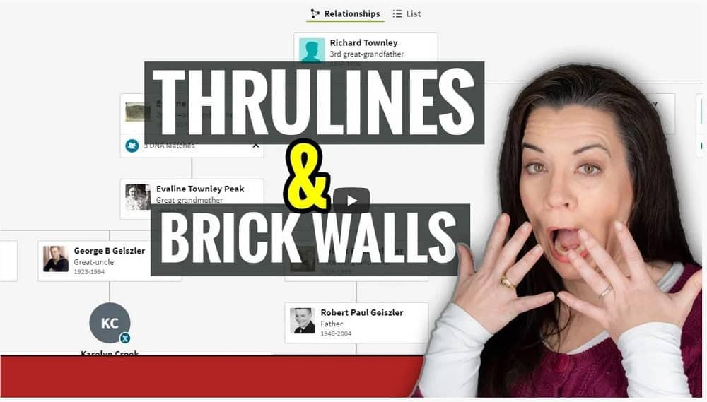 Video: Will Thrulines help crack a genealogy brick wall?