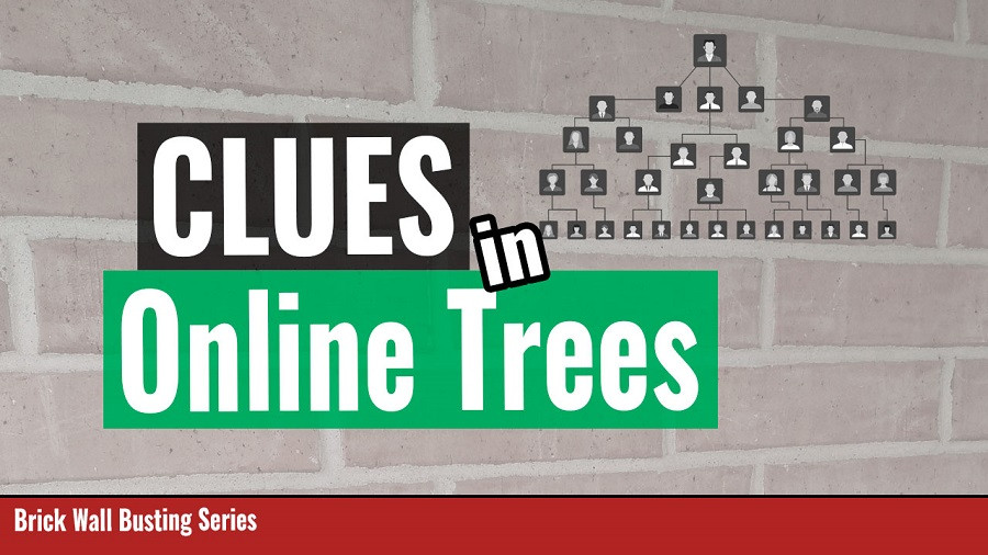 Genealogy Brick wall with the title clues in online trees