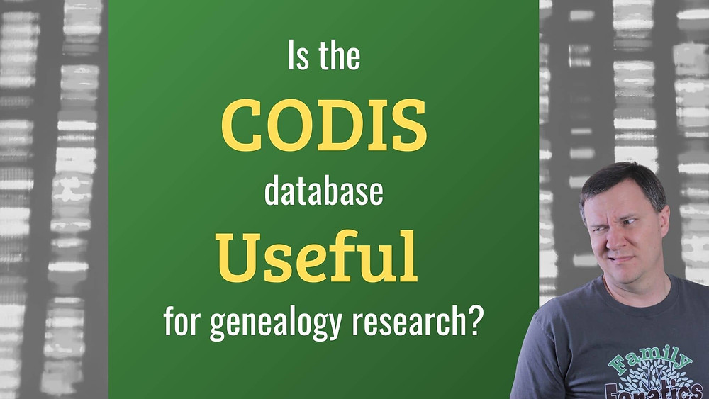 VIDEO: IS the CODIS DNA database useful for genealogists?