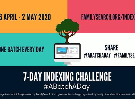 Join the Worldwide Indexing Challenge #ABatchADay