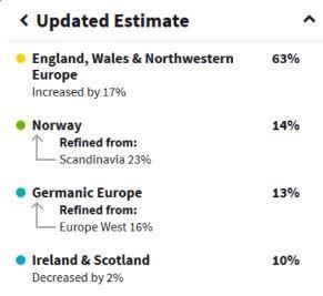 AncestryDNA Ethnicity Changes