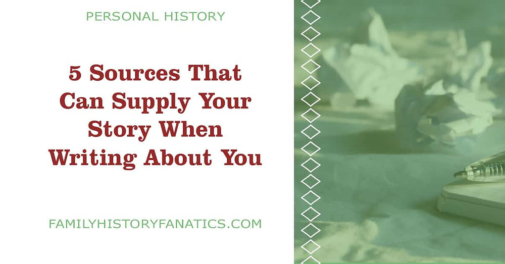 crumpled paper writers block sources that supply your personal history story
