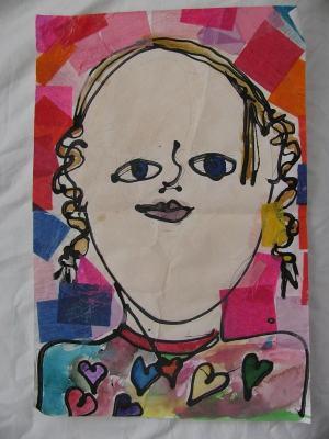 photographed children's artwork