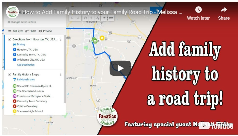 VIDEO: How to add family history to your next road trip