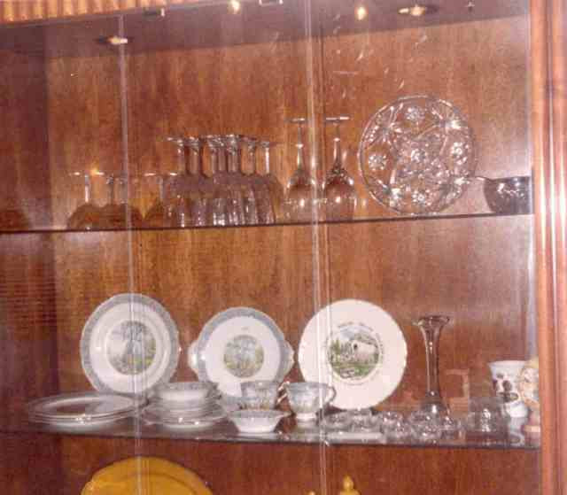 Penny Geiszler's China Cabinet, c. 1984