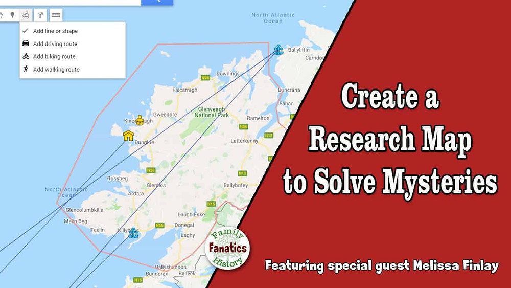 Google MyMap for Genealogy Research