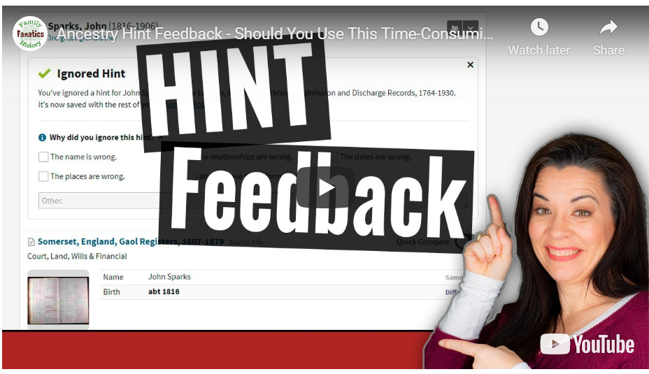 VIDEO: Should you provide hint feedback on Ancestry