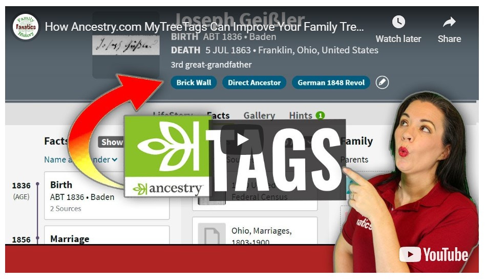 VIDEO: How can Ancestry MyTreeTags could help improve genealogy research