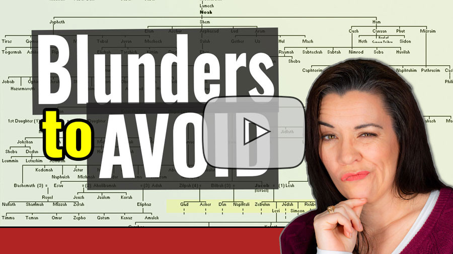 VIDEO: Avoid these Genealogy Mistakes as a Beginning Genealogist