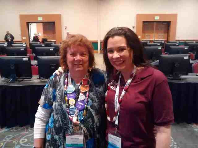 Lilian Magill and Devon Noel Lee at RootsTech 2017