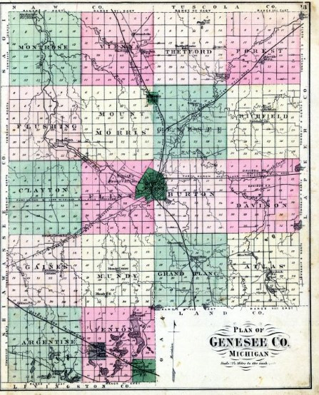 Genesee County, Michigan Map