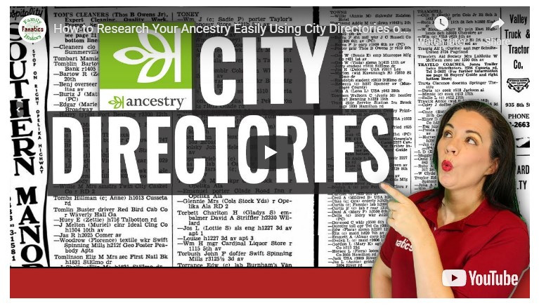 VIDEO: How to research city directories on Ancestry.com