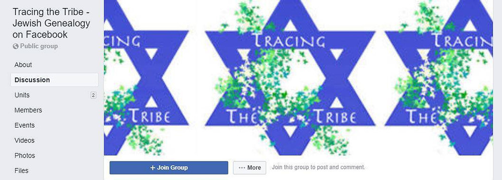 Join the discussion through the Jewish Tracing the Tribe Facebook gorup.