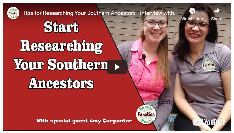Video: Start Researching Southern Ancestors in Your Family Tree